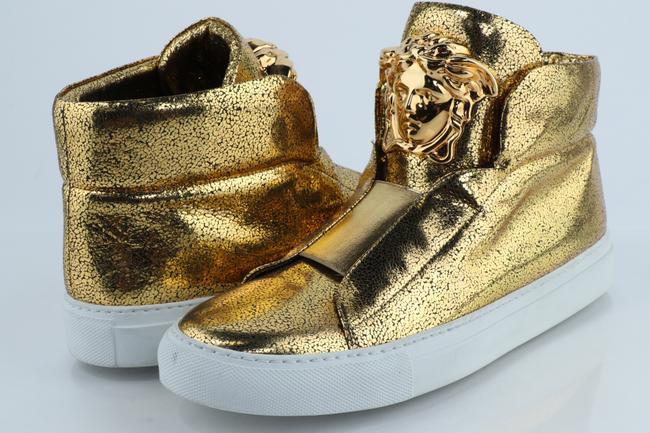 Item - Gold Medusa High-top Metallic Sneaker Shoes