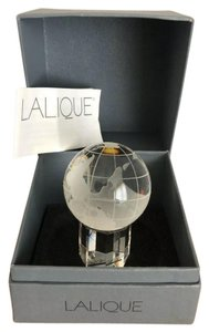 Lalique Lalique clear crystal globe on base