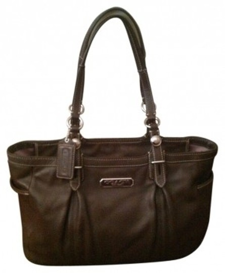 Preload https://item3.tradesy.com/images/coach-dark-brown-leather-tote-27457-0-0.jpg?width=440&height=440