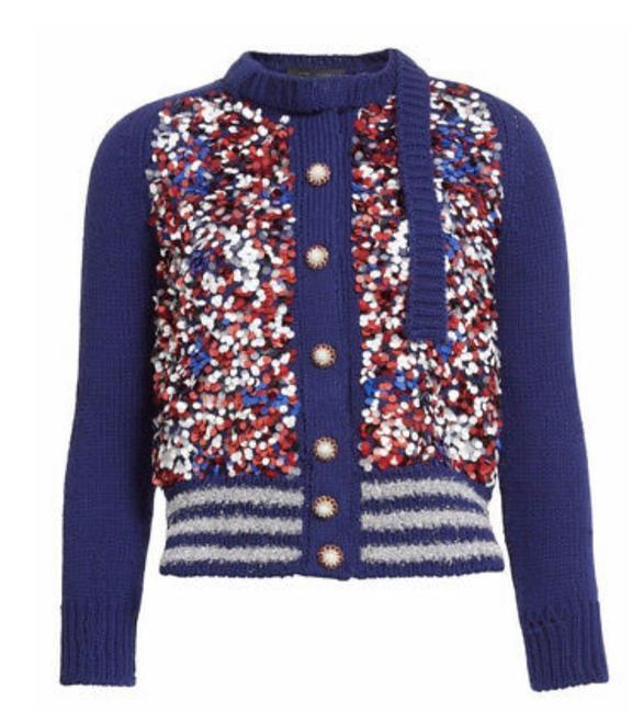 Marc Jacobs K41689852 Blue Red and White Sweater Marc Jacobs K41689852 Blue Red and White Sweater Image 1