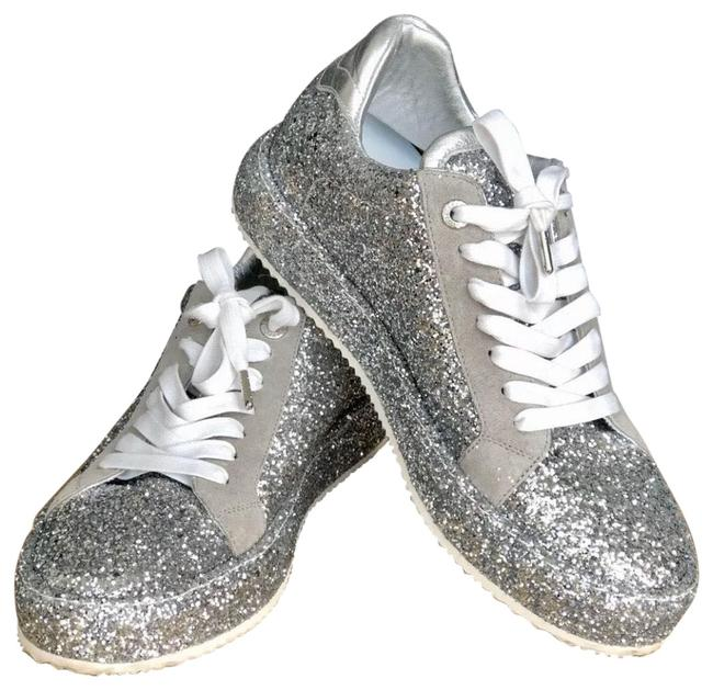 Item - Silver Sparkling Z&v Sneakers Size EU 41 (Approx. US 11) Regular (M, B)