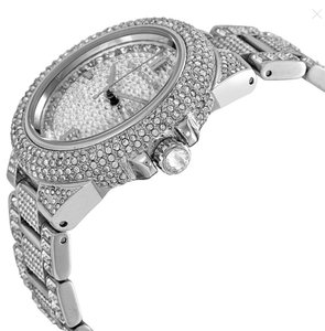 Michael Kors Michael Kors Silver Camille Stainless Steel Pave Crystal Mk5869 Watch