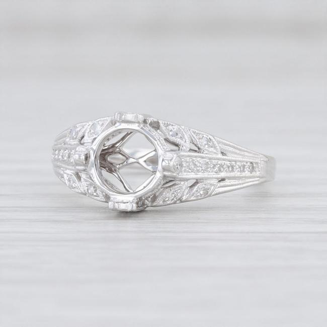 Item - White Gold New Semi Mount 18k Cathedral Diamond 6.5 Engagement Ring