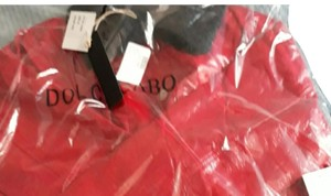 Dolce Cabo Red/ Black Leather Jacket