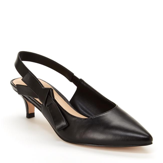 Item - Black Rhona Kitten Heels Pointy Bow Slingback Pumps Size US 8.5 Regular (M, B)