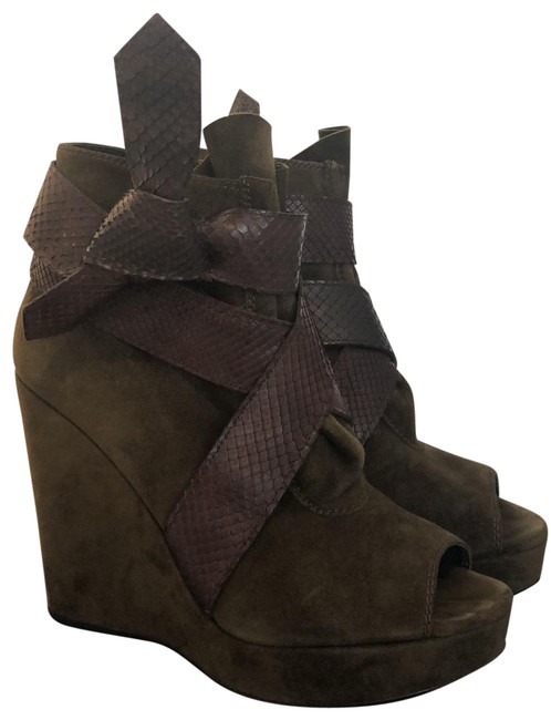 Item - Olive It's A Wrap Boots/Booties Size US 6.5 Regular (M, B)