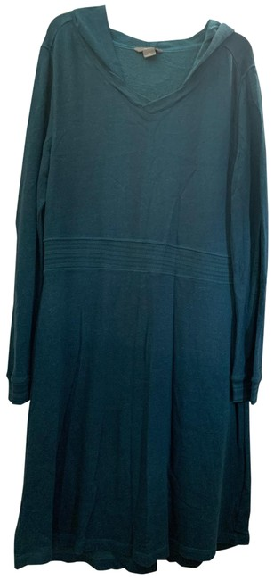 Item - Teal Hooded Mid-length Casual Maxi Dress Size 18 (XL, Plus 0x)
