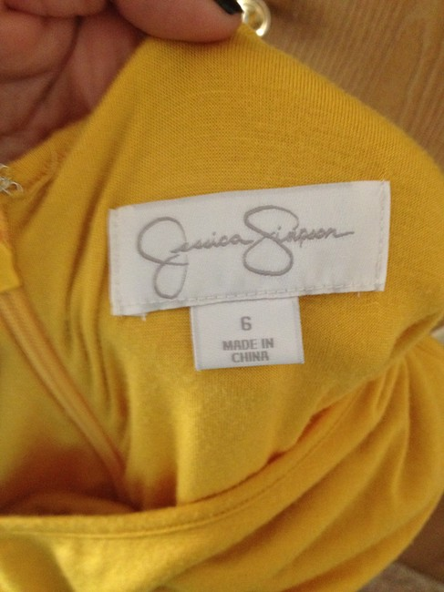 Jessica Simpson short dress Yellow on Tradesy