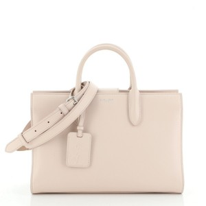 Saint Laurent Rive Gauche Leather Tote in Pink