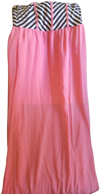 Item - Pink Black and White Long Casual Maxi Dress Size 8 (M)