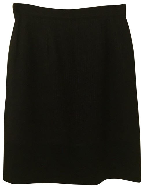 Item - Navy Wool Made In France Skirt Size 6 (S, 28)