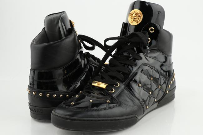 Item - Black Patent Leather Studded High-top Sneaker Shoes