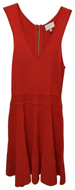 Item - Red Knit Mid-length Cocktail Dress Size 4 (S)