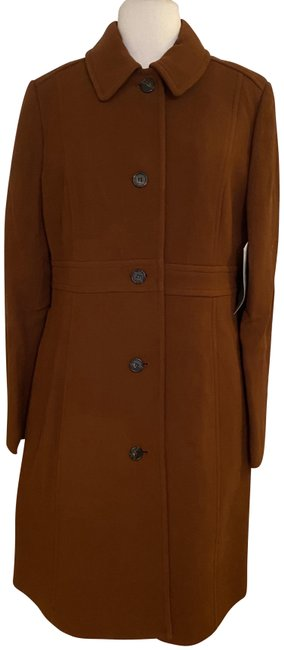 Item - Deep Redwood Classic Lady Day In Italian Double-cloth Wool. Coat Size 14 (L)