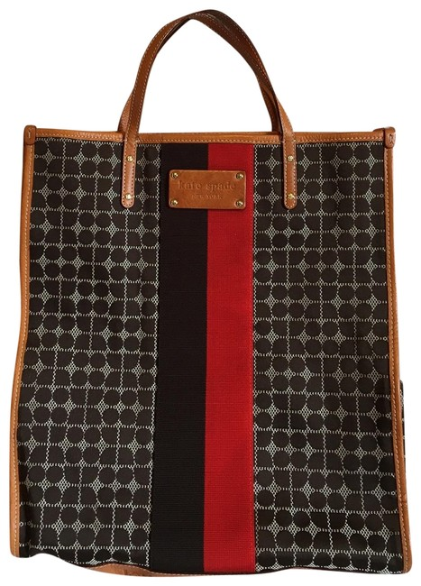 Item - Tall Navy and Red Cotton Tote