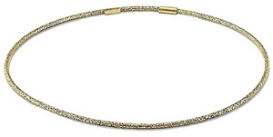 14k Yellow Gold Thin Bangle Bracelet 7.25
