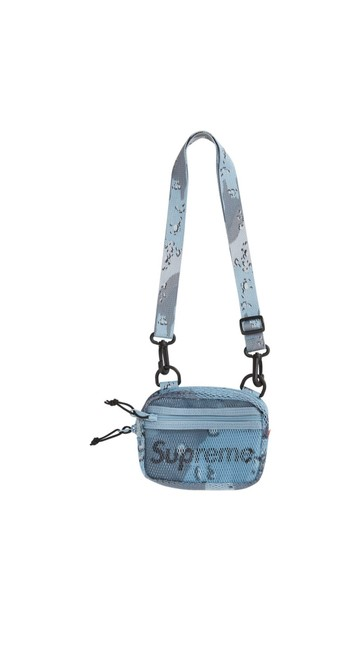 Item - Small Blue Cordura Poly Pvc Mesh Shoulder Bag