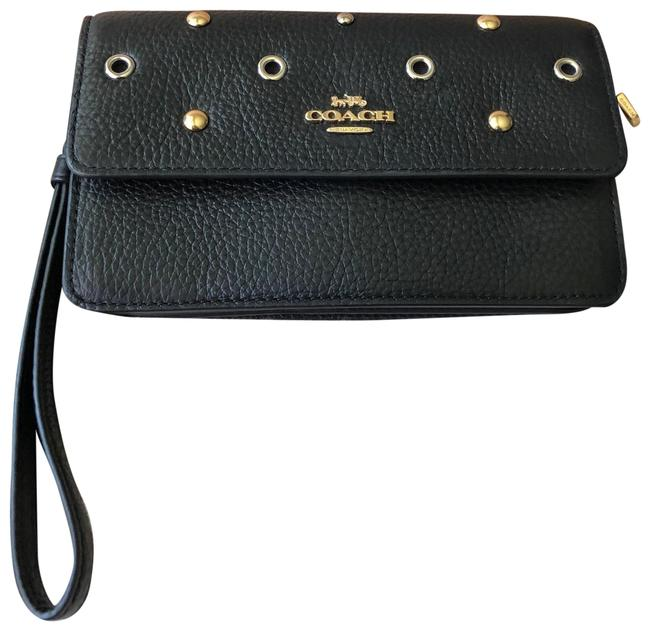 Coach Grommet Black Leather Wristlet Coach Grommet Black Leather Wristlet Image 1