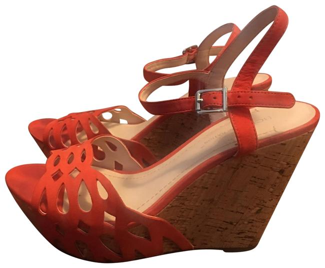 Item - Coral Suede Fabric Wedges Size US 9 Regular (M, B)
