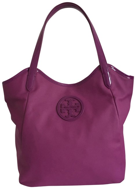 Item - Dipped Stacked Logo Tote Purple Canvas Hobo Bag