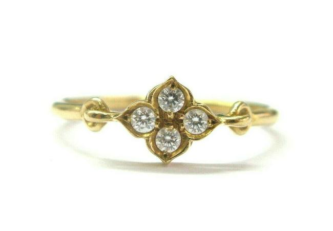 Item - Yellow Gold Cartier Hindu Floral Diamond 18kt Size 54 Ring