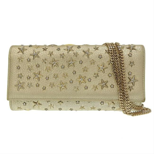 Item - Gold Mira Leather Chain Long Wallet