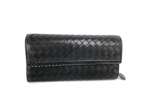 Bottega Veneta Bottega Veneta Leather Intrecciato Bifold Hook Wallet