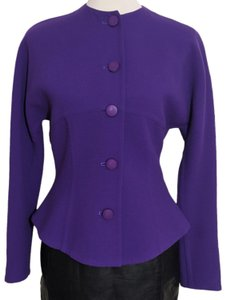 Carolyne Roehm Vintage Icon 60's Crepe Fitted purple Blazer
