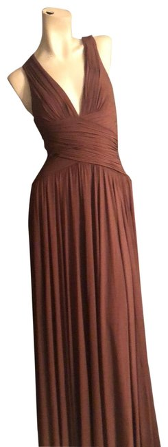 Item - Brown None Long Formal Dress Size 6 (S)