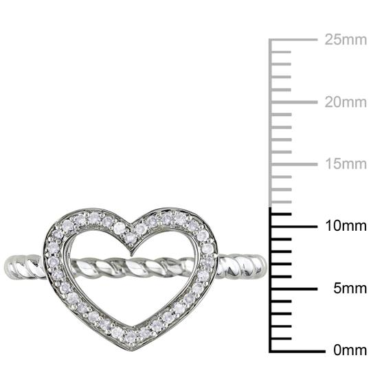 Other Silver 18 Ct Diamond Tw Fashion Heart Twisted Band Ring Gh I1i2
