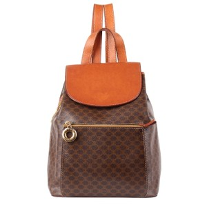 Céline Tote Leather Monogram Canvas Backpack