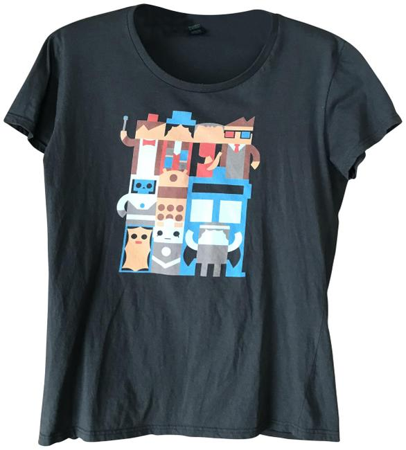 Item - Dark Grey Dr Who Tee Shirt Size 8 (M)