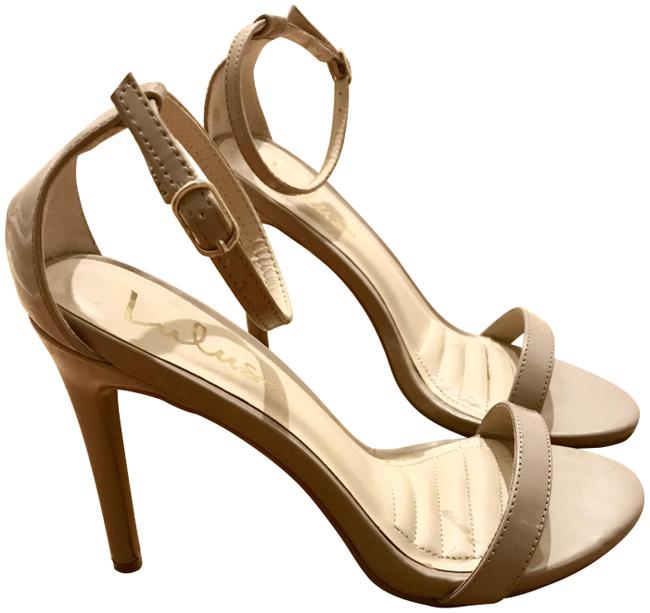 Item - Nude Patent Loveliness Ankle Strap Heels Formal Shoes Size US 7.5 Regular (M, B)
