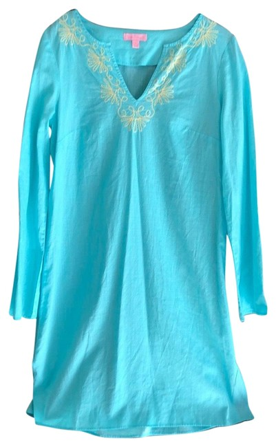 Item - Turquoise Tunic Cover-up/Sarong Size 6 (S)
