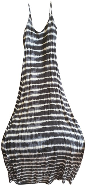 Item - White Navy Blue and Black 176393 Long Casual Maxi Dress Size 6 (S)