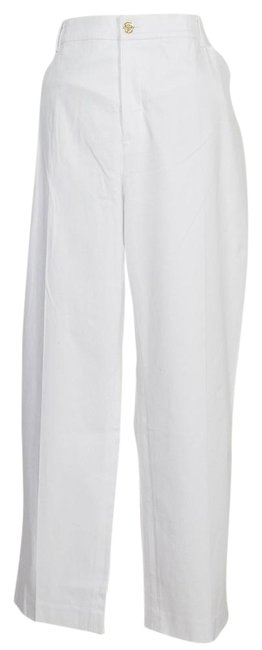 Item - White Stretch Cotton Sateen Slimming Fit Slim Ankle 20w Pants Size 20 (Plus 1x)