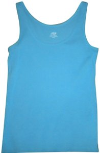 Joe Fresh Sleeveless Cotton Top Aqua Blue