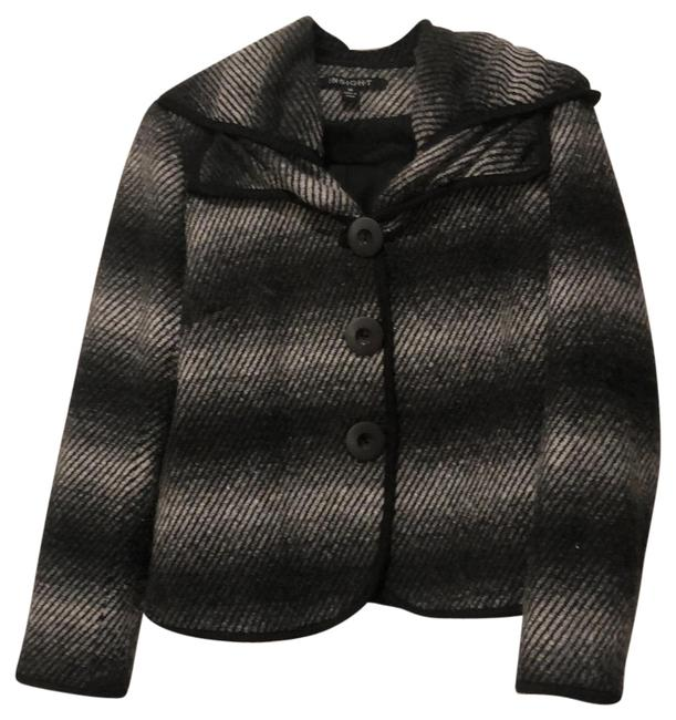 Item - Gray Adorable Coat Made with Wool Warm and Flattering Blazer Size 10 (M)