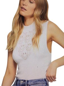 Free People Fp New With Tags Body Suit Top White