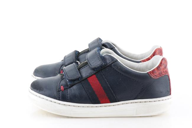 Item - Blue Toddler Leather Sneakers Size US 7 Regular (M, B)