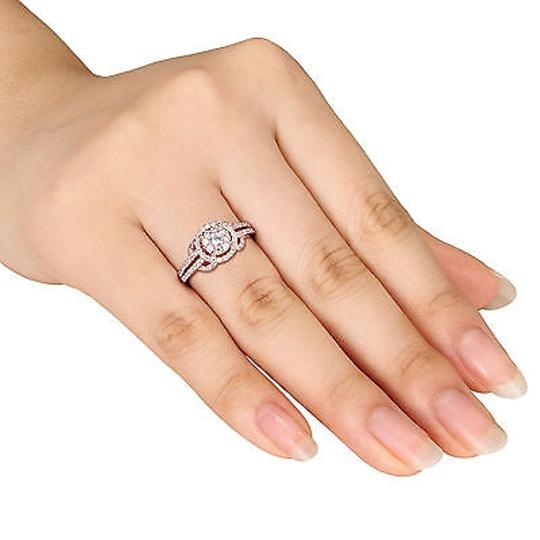 Amour Sterling Silver Ring With Round Cz 78ct Tw Rose Gold Plating
