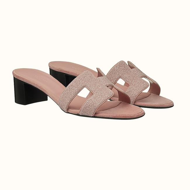 Item - Rose Pink Hill Mule Crystals Leather Limited Edition Sandals Size US 9 Regular (M, B)