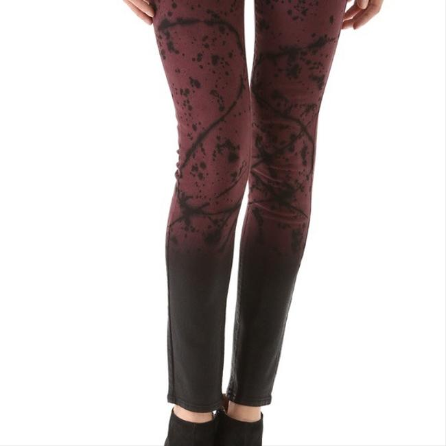 "Item - Purple Black Coated ""verdugo Ultra Splatter Paint Skinny Jeans Size 0 (XS, 25)"