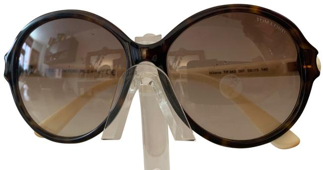 Item - Turtle Shell Frame with Ivory Colored Temple. Comes with Case. Sunglasses