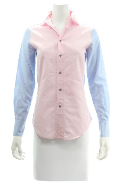 Item - Blue & Pink Cotton Shirt New with Tags Button-down Top Size 2 (XS)