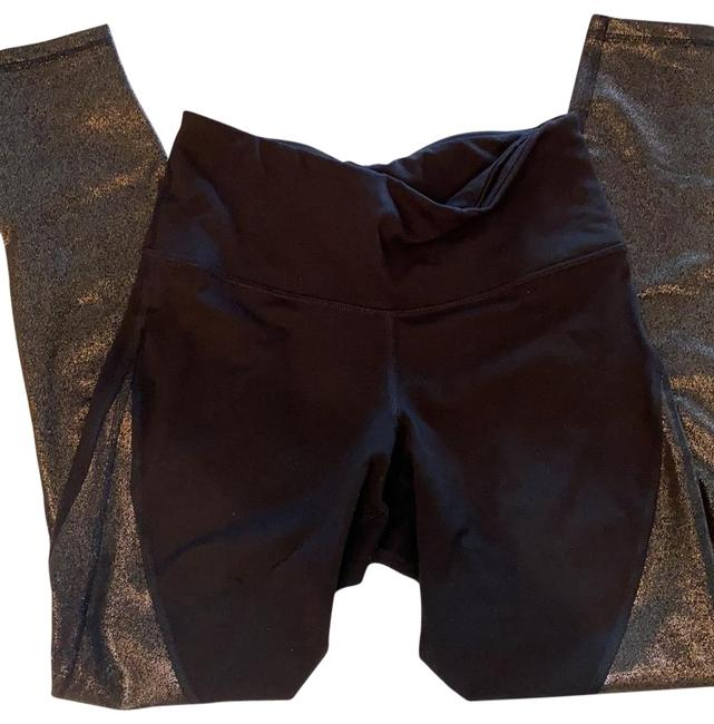 Item - Black with Gold Metallic Work Out Activewear Bottoms Size 8 (M)