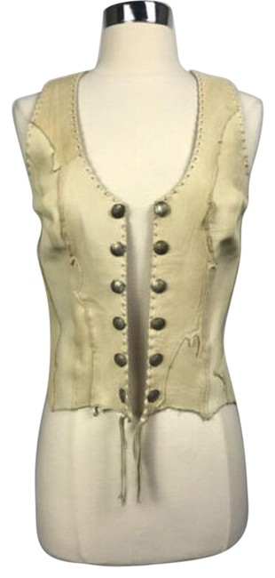 Preload https://img-static.tradesy.com/item/27464242/tan-leather-mercury-head-buttons-vest-size-10-m-0-1-650-650.jpg