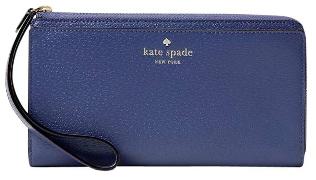Kate Spade Grand Street Layton Oyster Blue Leather Wristlet Kate Spade Grand Street Layton Oyster Blue Leather Wristlet Image 1