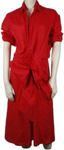 Red Maxi Dress by Tome Cotton
