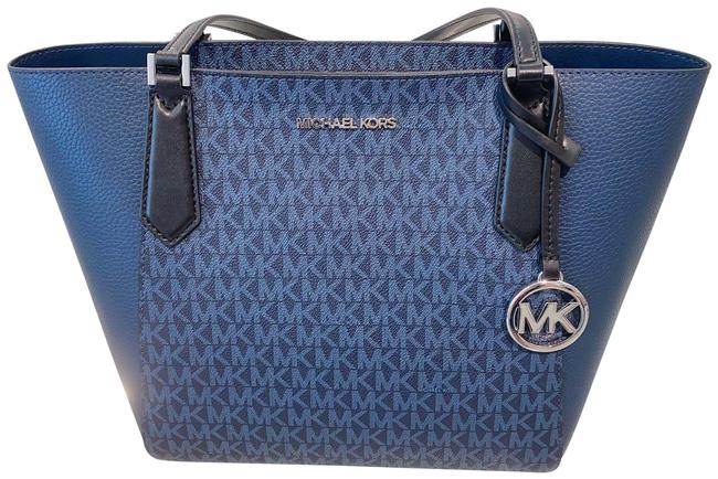 Item - Shoulder Bag Kimberly Small Bonded Navy Multi Leather Tote